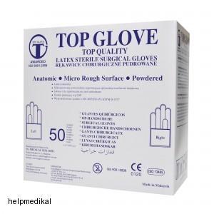 Chirurgické rukavice Top Glove pudrované afefbf419d