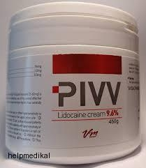 PIVV - Lidocaine cream 9,6 % 500g